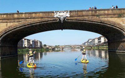 Tommaso e la sua Firenze vista dal fiume